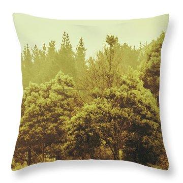 Tasmanian Grassland Details Throw Pillow