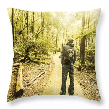 Tasmanian Rainforest Tourist Throw Pillow