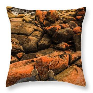 Tasmanian Tourist Kicking Back  Throw Pillow
