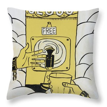Throw Pillow featuring the painting Taste And See by Nathan Rhoads