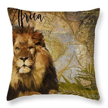 Cat Map Throw Pillows
