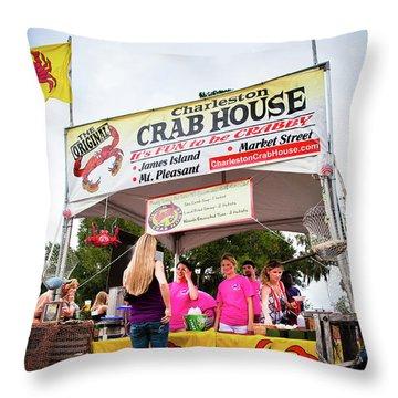 Taste Of Charleston Throw Pillow
