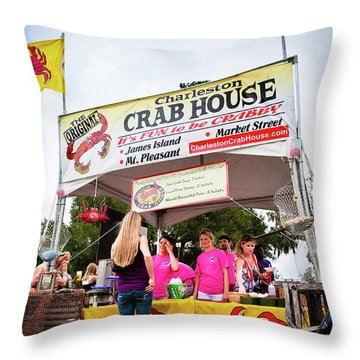 Taste Of Charleston Throw Pillow