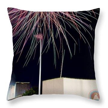 Taste Of Dallas 2015 Fireworks Throw Pillow