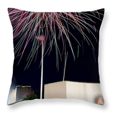 Taste Of Dallas 2015 Fireworks Throw Pillow