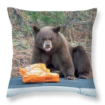 Taste Of The Wild Throw Pillow by Scott Warner