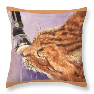 Tastey Water Throw Pillow by Mary Jo Zorad