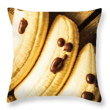 Tasty Healthy Halloween Treats For Kids Throw Pillow
