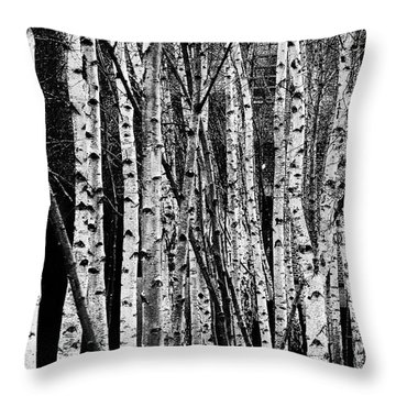 Throw Pillow featuring the digital art Tate Willows by Julian Perry