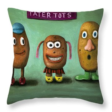 Tater Tots Throw Pillow