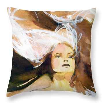 Throw Pillow featuring the painting Tatiana by Ed  Heaton