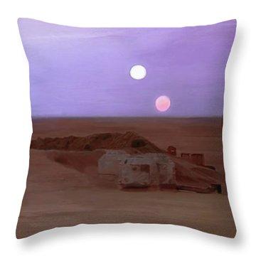 Tatooine Sunset Throw Pillow