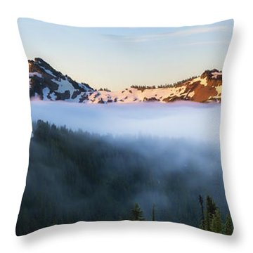 Tatoosh Panorama Throw Pillow
