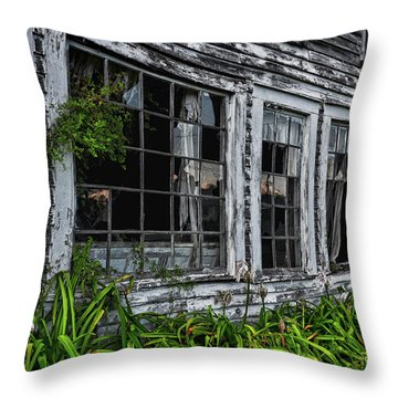 Tattered Color Signed Throw Pillow