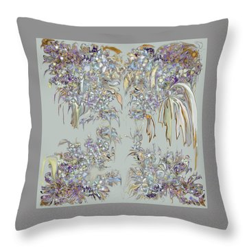Tattered Pieces Throw Pillow