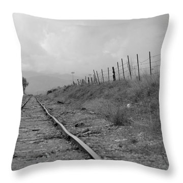 Tattered Tracks Throw Pillow