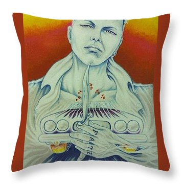 Tattooed Fate Throw Pillow