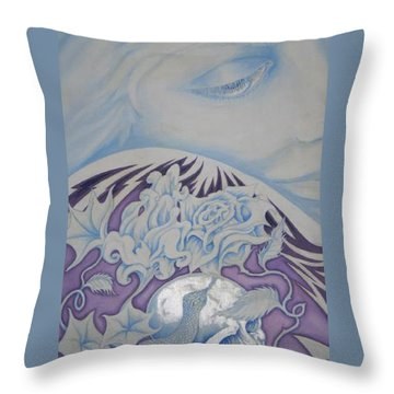 Tattooed Goddess Throw Pillow