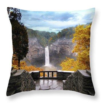 Taughannock In Autumn Throw Pillow