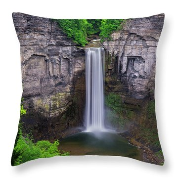 Taughannock-summer Throw Pillow