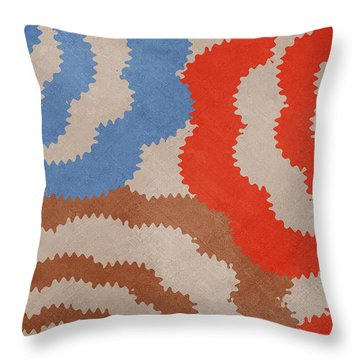 Taupe Ring Pattern Throw Pillow by Christina Rollo