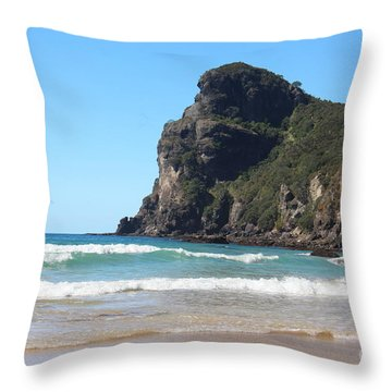Taupo Bay Throw Pillow