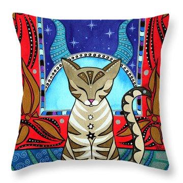 Taurus Cat Zodiac Throw Pillow