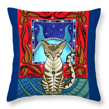 Taurus Cat Zodiac Throw Pillow