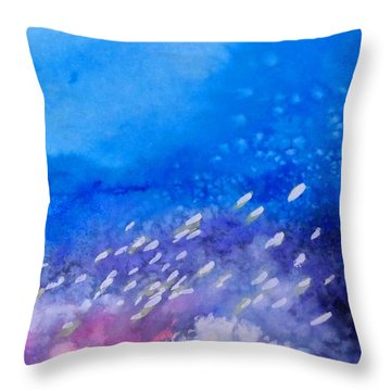 Throw Pillow featuring the painting Tavu Na  Siki by Ed Heaton