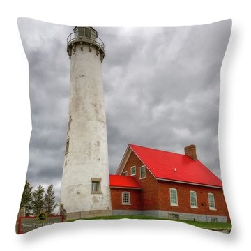 Throw Pillow featuring the photograph Tawas Point Lighthouse by Heather Kenward
