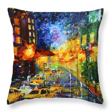 Taxi Cabs Throw Pillow