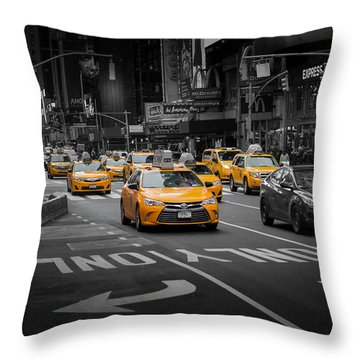Taxi Please Throw Pillow