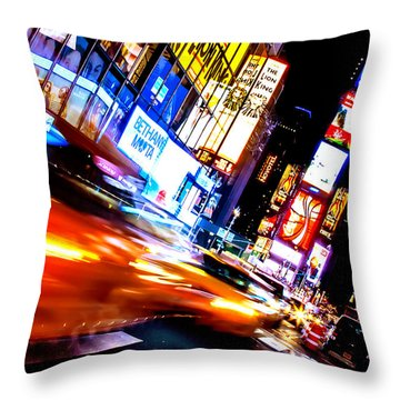 Taxi Square Throw Pillow