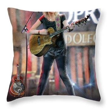 Taylor At The Opry Throw Pillow by Don Olea