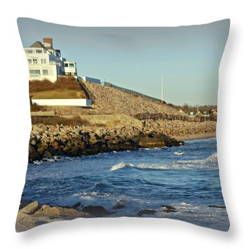 Taylor Swift Rhode Island Home Throw Pillow by Diane Valliere