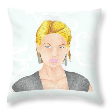 Taylor Swift Throw Pillow by Toni Jaso