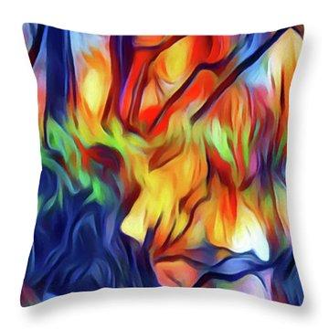Taylors Creek Throw Pillow by David Hansen