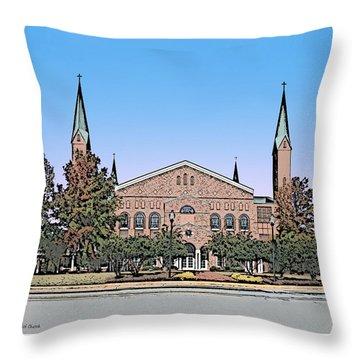 Taylors First Baptist Church Throw Pillow