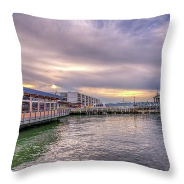 Throw Pillow featuring the photograph Taylors Landing by Spencer McDonald