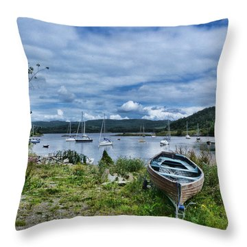 Tayvallich Harbour Throw Pillow