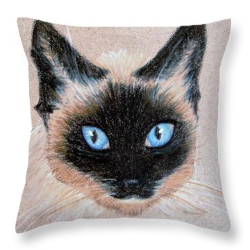 Tazzy Throw Pillow by Jamie Frier