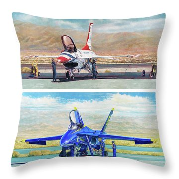 Tbirds And Angels Maintenance Throw Pillow