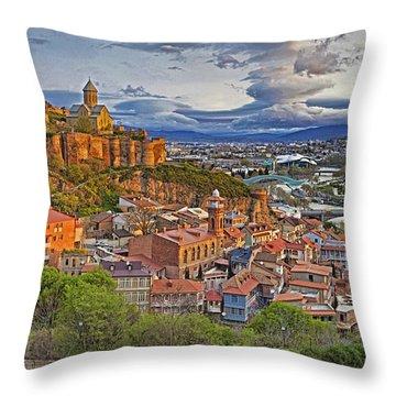 Tblisi Dawn Throw Pillow by Dennis Cox WorldViews