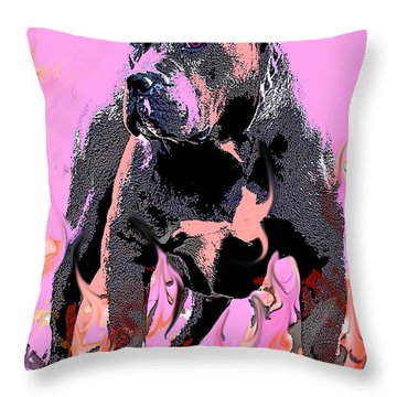 Throw Pillow featuring the painting Tbone by Tbone Oliver