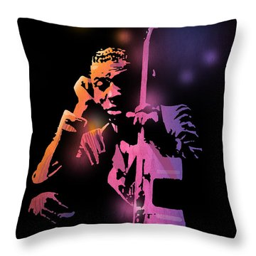 Tbone Walker Throw Pillow by Paul Sachtleben