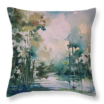 Tchefuncte River Throw Pillow