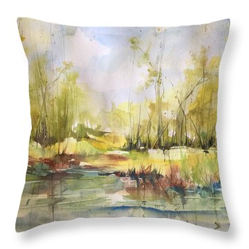 Tchefuncte River Series Throw Pillow