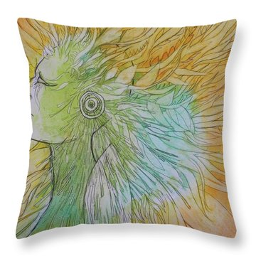 Throw Pillow featuring the drawing Te-fiti by Marat Essex