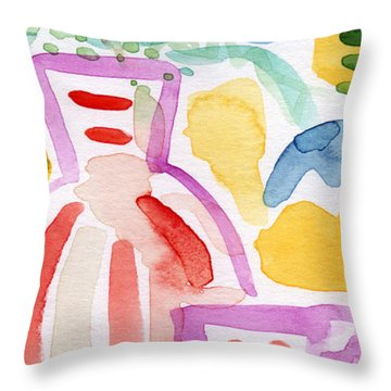 Tea And Flowers 2- Art By Linda Woods Throw Pillow