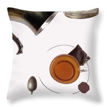 Tea For One Throw Pillow by Steven Huszar